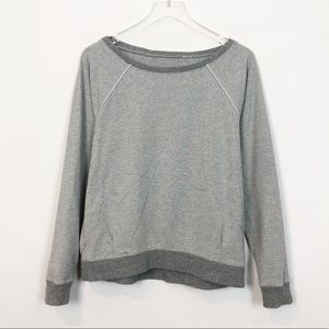 Lululemon Gray Heather Geometric Ribbed Sweatshirt